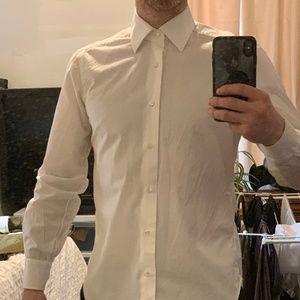 Barba Hand Made Shirt 39 / 15.5 White